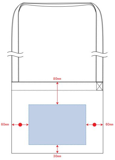 キャンバスサコッシュ インナーポケット付 デザインスペース:W200×H140(mm) ■シルク印刷 最大範囲:W200×H140(mm)