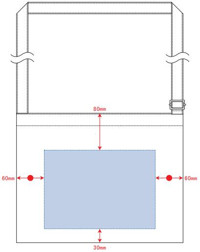 デザインスペース:W240×H170(mm) ■シルク印刷 最大範囲:W240×H170(mm)