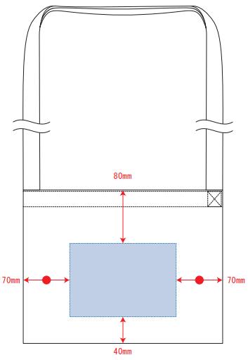 デザインスペース:W160×H110(mm) シルク印刷 最大範囲:W160×H110(mm)