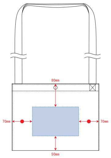 デザインスペース:W160×H100(mm) ■シルク印刷 最大範囲:W160×H100(mm)