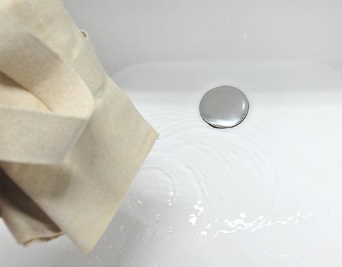 洗濯後の水の様子です