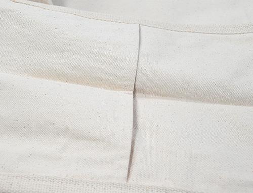 ポケット部分も重ね縫いされています