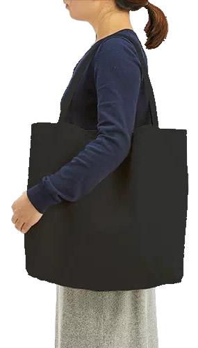キャンバスリバーシブルトート009ナイトブラック 肩掛けショルダーの写真