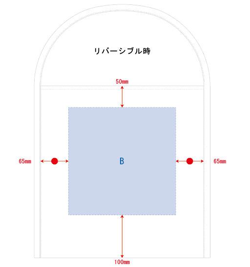 シルク印刷 最大範囲:Bリバーシブル面/W250×H250(mm)