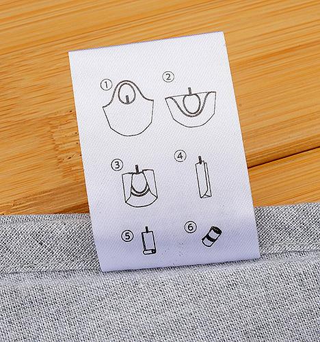タグ(裏)畳み方イラスト