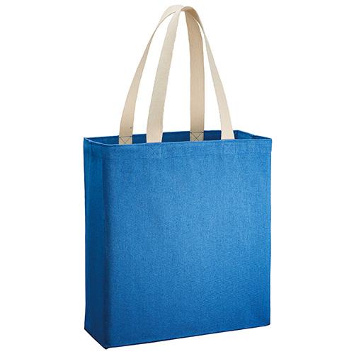 シャンブリックキャンバスボックストート001 ブルー