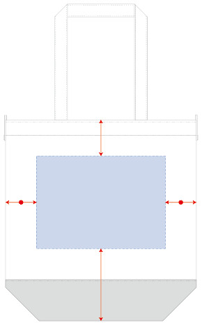 シルクプリント 最大範囲:W170×H170(mm)