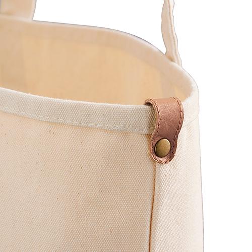 厚手キャンバスレザーポケットトートのレザーループ