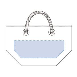 厚手キャンバスロープハンドルトート印刷範囲 W260×H90(mm)