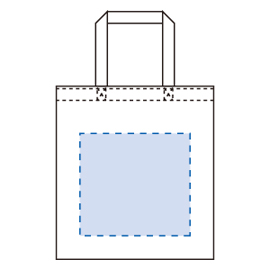 ライトキャンバスバッグ(S) 印刷範囲