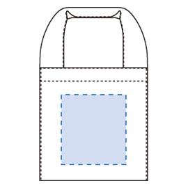 キャンバスランチバッグ印刷範囲