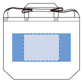 キャンバスWスタイルバッグ印刷範囲