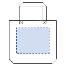 キャンバスバケットトート(M)印刷範囲