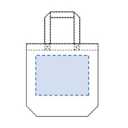 厚手コットン(M)マチ付き印刷範囲
