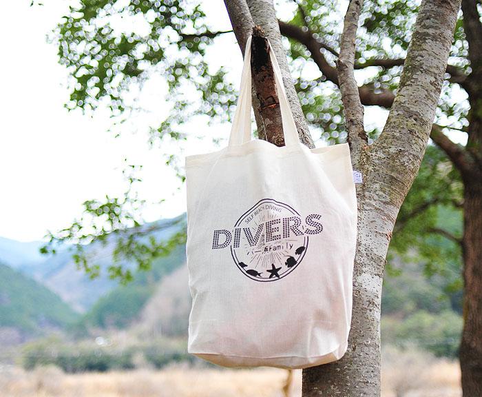 作例:染色プリントにてチームマイバッグを作成 撮影地:四万十川 印刷サイズ:横24cm×縦14cm
