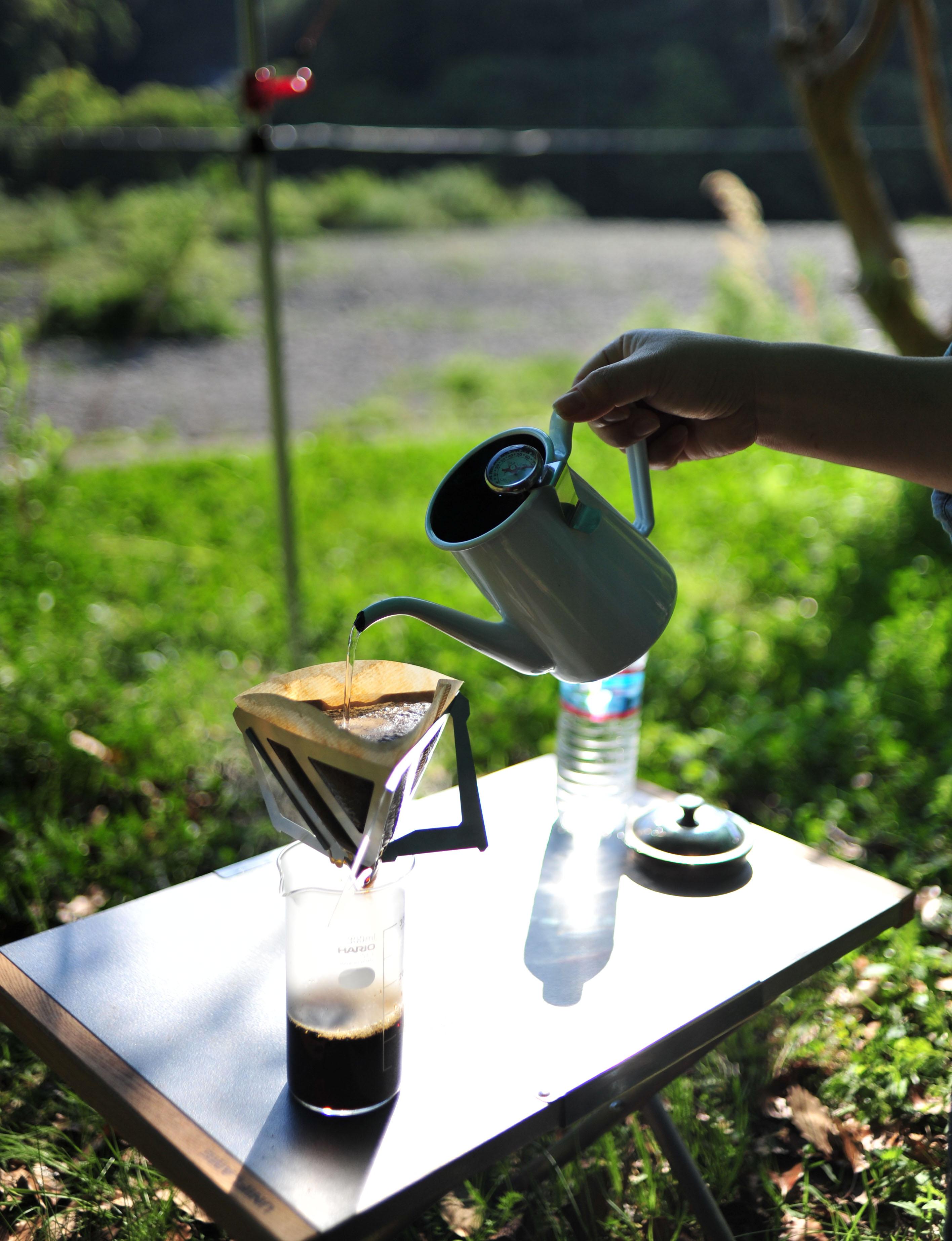 自然の中のコーヒー